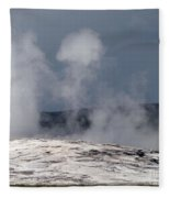 Beautiful Old Faithful Fleece Blanket