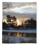 Beautiful Winter Dawn Fleece Blanket