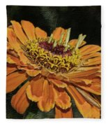 Beauty In Orange Petals Fleece Blanket