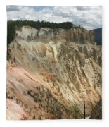Beauty Of The Grand Canyon In Yellowstone Fleece Blanket