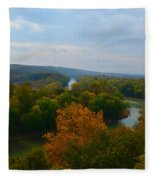 Beauty On The Bluffs Autumn Colors Fleece Blanket