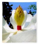 Bed Of Magnolia Fleece Blanket
