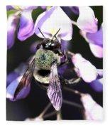 Bee And Blooms - Card Fleece Blanket