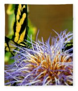 Bee And The Butterfly Fleece Blanket