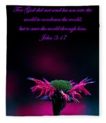 Bee Baum John 3 17 Fleece Blanket