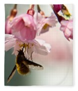 Bee Fly Feeding 2 Fleece Blanket
