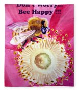 Bee Happy  Fleece Blanket