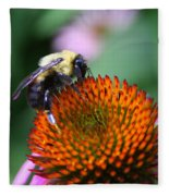 Bee-ing Happy Fleece Blanket