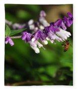 Bee On Flower Fleece Blanket