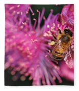 Bee On Lollypop Blossom Fleece Blanket