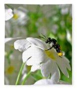 Bee On Primrose Fleece Blanket