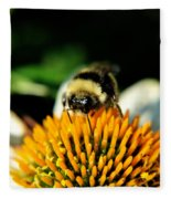 Beeing Healthy With Echinacea Pow Wow Fleece Blanket