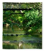 Below The Bridge Is Another World Fleece Blanket