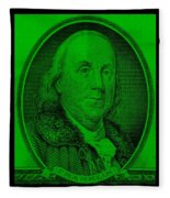 Ben Franklin In Green Fleece Blanket