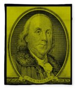 Ben Franklin In Yellow Fleece Blanket