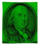 Ben Franklin Ingreen Fleece Blanket