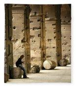 Beneath The Colosseum Fleece Blanket