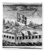 Benjamin Franklin: Battery Fleece Blanket