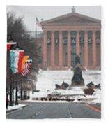 Benjamin Franklin Parkway Panorama Fleece Blanket