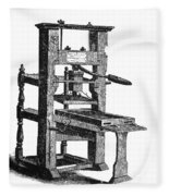 Benjamin Franklins Printing Press Fleece Blanket