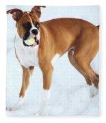 Benny And His Ball Fleece Blanket
