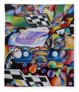 Ben's Car Show Fleece Blanket