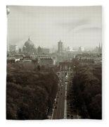 Berlin From The Victory Column Fleece Blanket