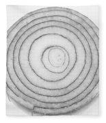Bermuda Onion Spiral Bw Fleece Blanket
