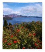 Berries By The Lake Fleece Blanket