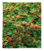 Berries In Profusion Fleece Blanket