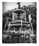 Bethesda Fountain Fleece Blanket