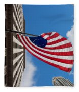 Betsy Ross Flag In Chicago Fleece Blanket