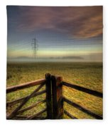 Between The Lines Fleece Blanket