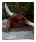 Beware Smiling Bull Fleece Blanket
