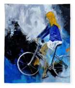 Bicycle 77 Fleece Blanket