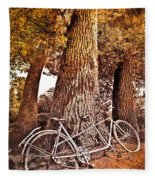 Bicycle Built For Two Fleece Blanket