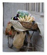 Bicycle Loaded With Food, Delhi, India Fleece Blanket