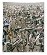 Bicycle Park In Beijing In China Fleece Blanket