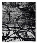 Bicycle Shadow 1 Fleece Blanket