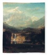 Bierstadt: Rockies Fleece Blanket