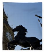 Big Ben And Boadicea Statue  Fleece Blanket