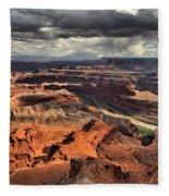 Big Bend In The Colorado Fleece Blanket