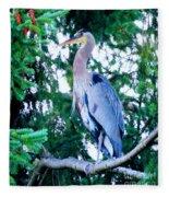 Big Bird - Great Blue Heron Fleece Blanket