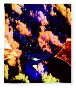 Big Blue Globe Thingee Fleece Blanket