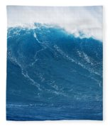 Big Blue Wave Fleece Blanket