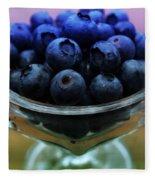 Big Bowl Of Blueberries Fleece Blanket