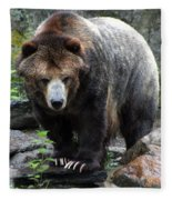 Big Brown Bear Fleece Blanket