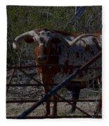 Big Bull Long Horn Fleece Blanket