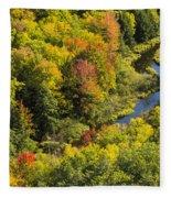 Big Carp River 3 Fleece Blanket