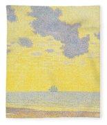 Big Clouds Fleece Blanket